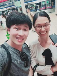 My favorite Chinese teachers, Helen (right) and my Chinese boyfriend, Jackie!